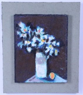 "David Adickes ""bouquet Against Brown"" Acrylic"