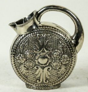 Spanish Colonial Silver/800 Water Pitcher