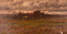 "Joseph Frank Currier ""autumn Landscape"" Oil"