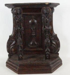 17th Century Spanish Oak Carved Chalice Niche