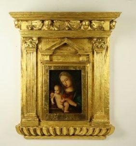 Circa 1500's Italian Madonna & Child Oil On Wood