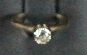Diamond & 14kt Yellow Gold Ring