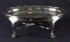 TIFFANY & CO. SILVER SOLDERED WARMING TRAY WITH BURNER