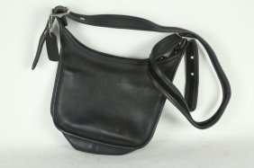 Coach Black Leather Bag.