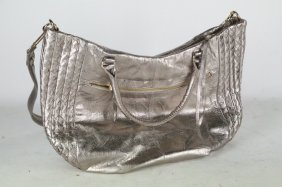 Elliott Lucca Silver Leather Bag.