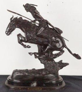 """Frederic Remington """"cheyenne"""" Bronze Sculpture."""