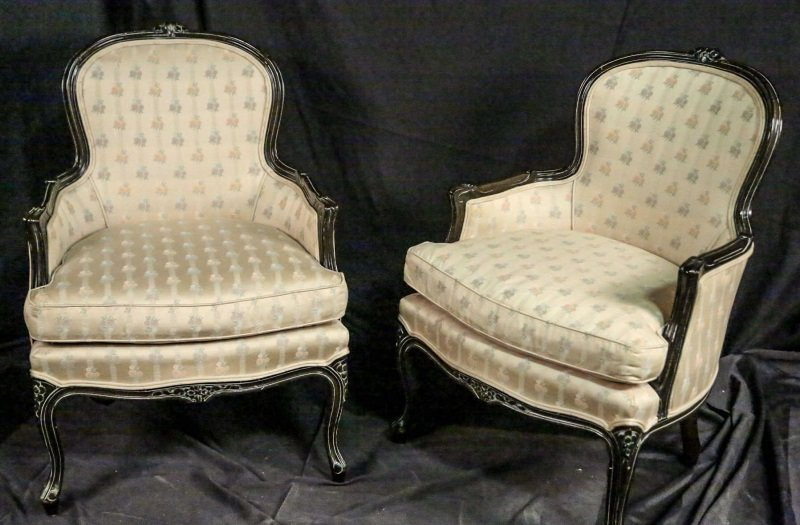 PAIR OF FRENCH BERGERE ARMCHAIRS BY CENTURY