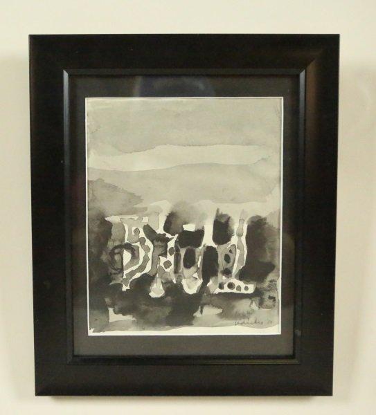 """DAVID ADICKES """"JAPAN"""" WATERCOLOR, 1959"""