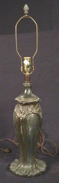 ART NOUVEAU BRONZE LAMP