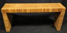 Vintage Rattan Sofa Table