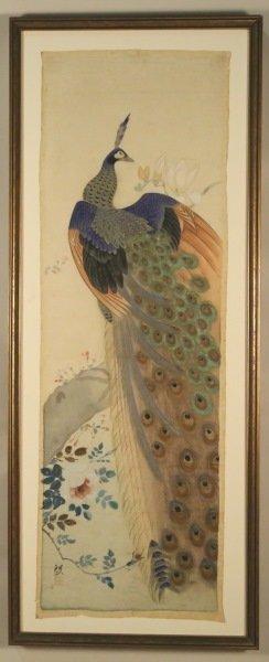 19th Century Japanese Painting On Silk