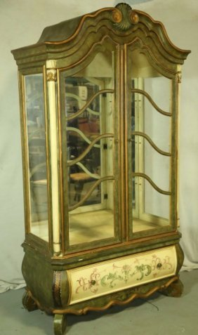 Continental Painted Display Cabinet