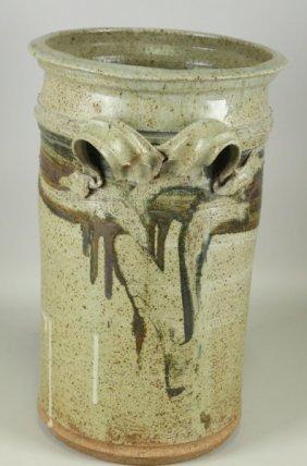 Earthenware Cylinder Vase