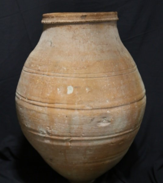 ANTIQUE TURKISH TERRACOTTA OLIVE JAR