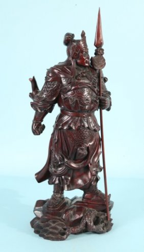 Wood Carved Chinese Warrior