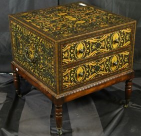 Theodore Alexander Painted Chest On Stand