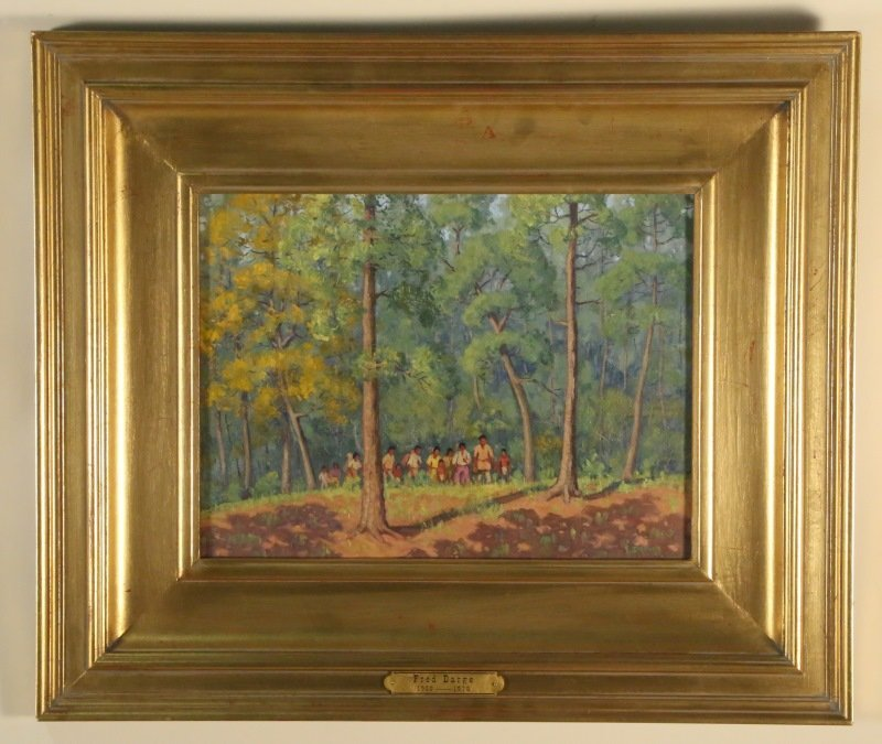 FRED DARGE LANDSCAPE OIL ON CANVAS PAINTING
