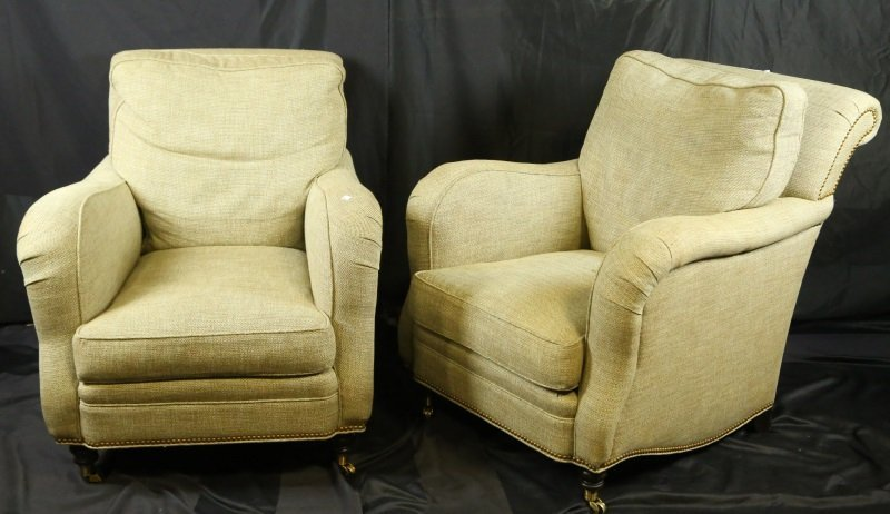 PAIR OF HICKORY CHAIR COMPANY CLUB CHAIRS