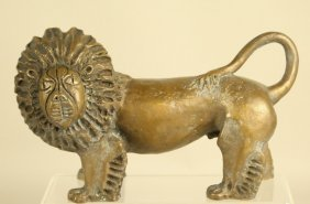 Circa 1960 Bronze Lion Sculpture