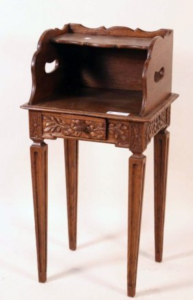 Country French Style Oak Bedside Cabinet