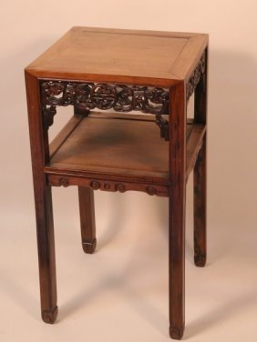 Antique Chinese Rosewood End Table