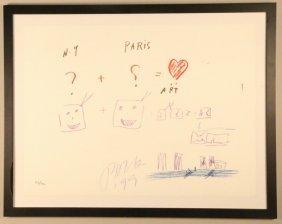 "Nam June-paik ""new York Paris"" Original Lithograph"