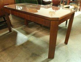 Contemporary Style Mahogany Desk By Baker Furn.