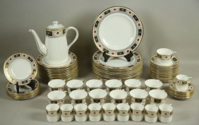 "83-piece Royal Crown Derby ""derby Border"" Set"