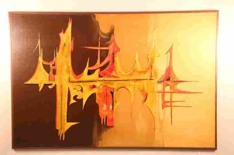 CONTEMPORARY ABSTRACT OIL PAINTING ON CANVAS