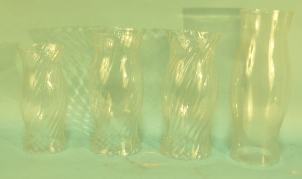 LOT OF FOUR HURRICANE CANDLE FLUTES