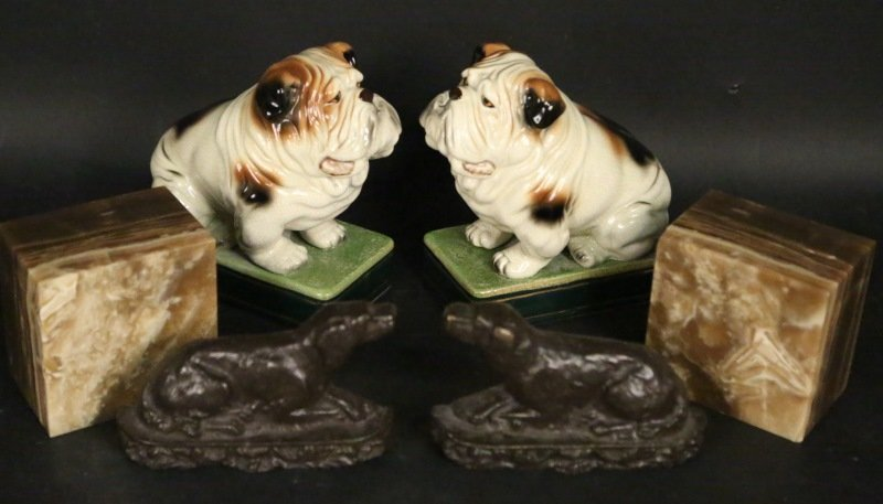MIXED LOT OF THREE PAIR OF BOOKENDS