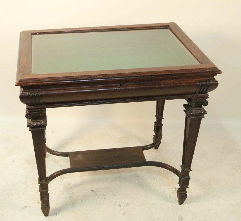 19th CENTURY FRENCH VITRINE TABLE