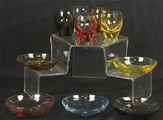LOT OF TEN PIECES OF MOSER GLASS