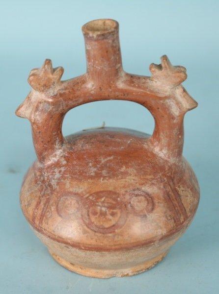 PRE-COLUMBIAN TERRACOTTA JUG, CIRCA 500 AD