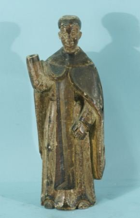18th CENTURY WOOD CARVED FIGURE OF ST. DOMINIC