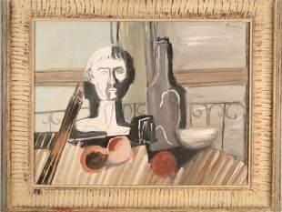 """PABLO PICASSO """"BONNE FETE PICASSO"""" TEMPERA, 1931"""