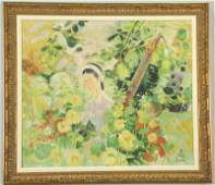 LE PHO CHINESE OIL ON CANVAS PAINTING