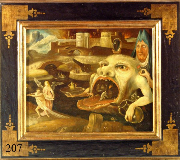 207: STYLE OF HIERONYMUS BOSCH, 19th Century, 28X24""