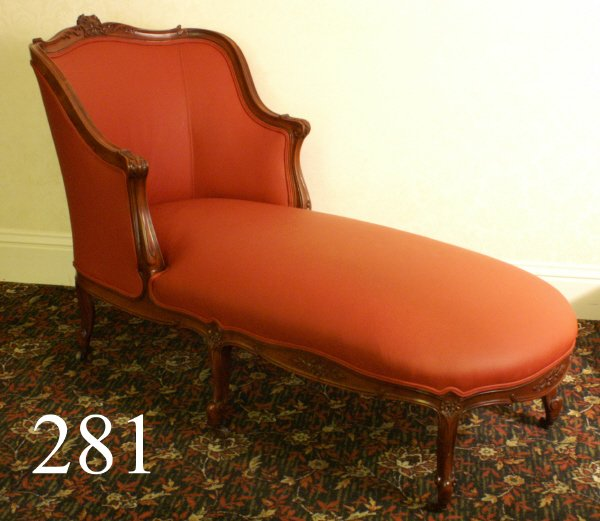 281: DIVAN (ORANGE), SHERIDAN PIECE, CHAISE LOUNGE, 60""
