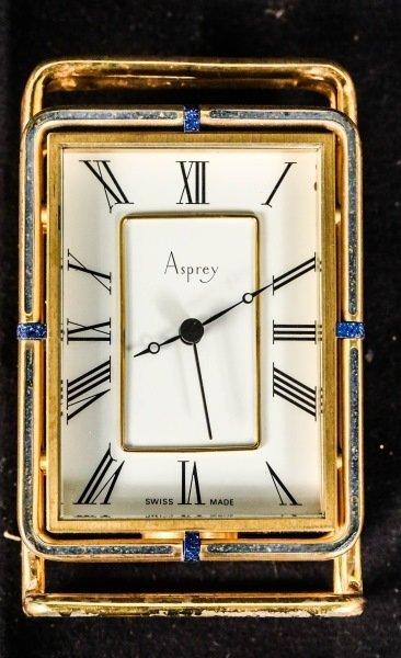 ASPREY TRAVEL ALARM CLOCK