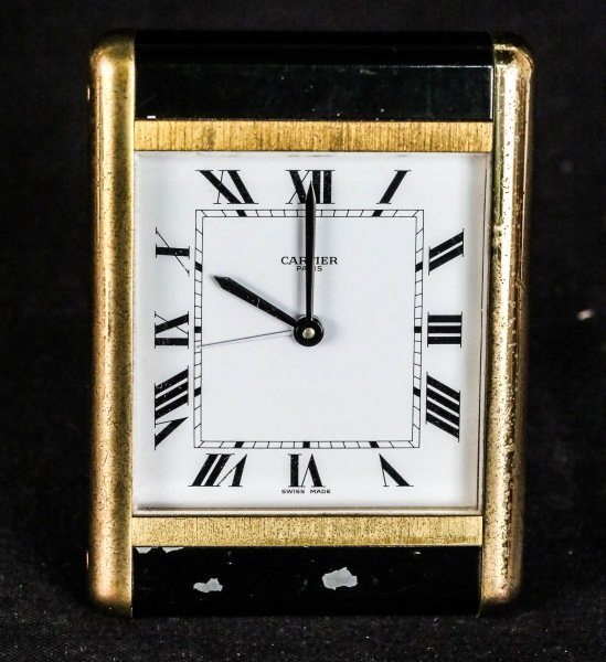 CARTIER TRAVEL ALARM CLOCK