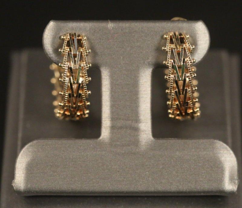 14 KT YELLOW GOLD LOOP EARRINGS