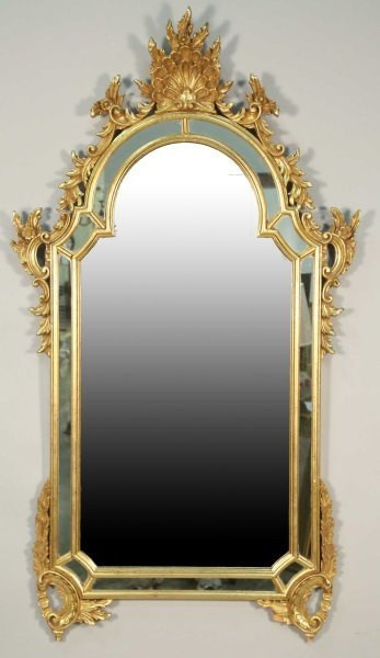 GILT CHIPPENDALE STYLE MIRROR