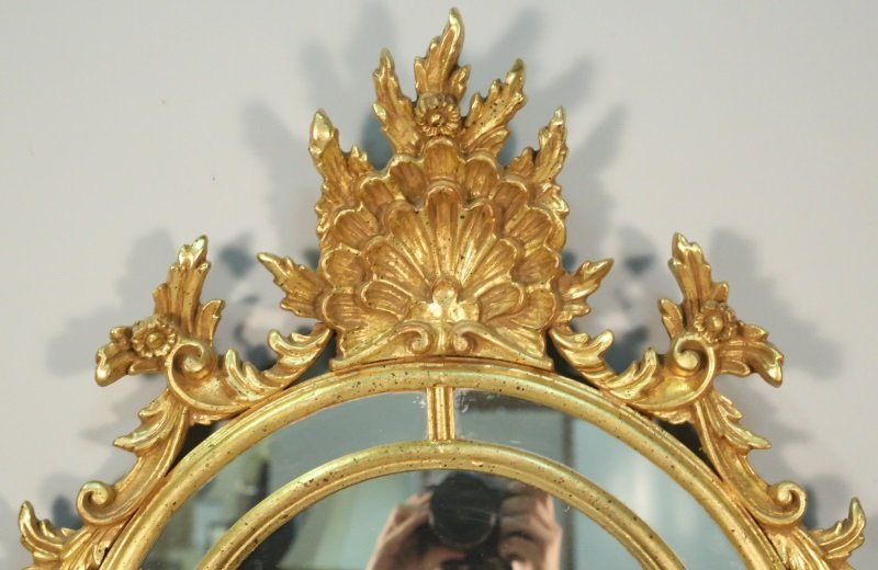 GILT CHIPPENDALE STYLE MIRROR - 2