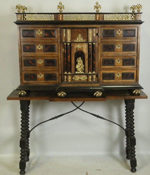 C. 17th STYLE CABINET ON STAND