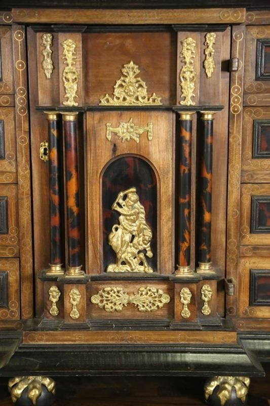 C. 17th STYLE CABINET ON STAND - 2