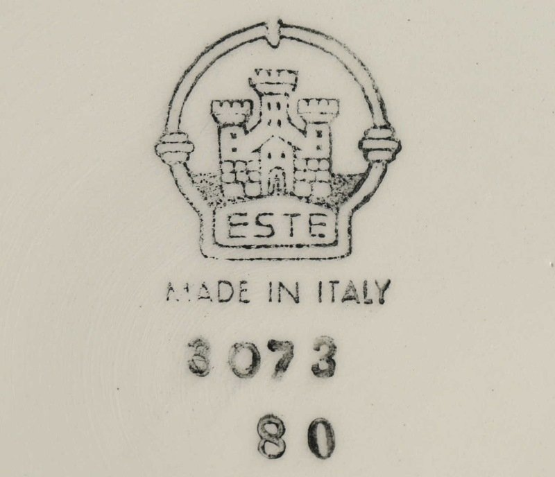 "CIRCA 1970's SET OF ELEVEN ITALIAN ""ESTE"" PLATES. - 3"