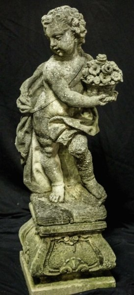 PAIR OF 19th CENTURY SHELL CRETE PUTTI SCULPTURES - 4