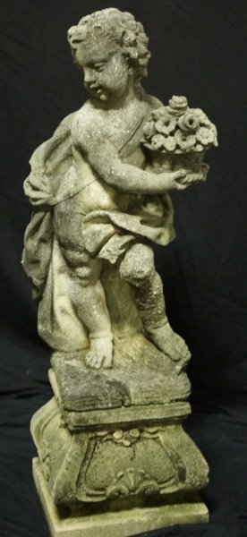 PAIR OF 19th CENTURY SHELL CRETE PUTTI SCULPTURES - 5