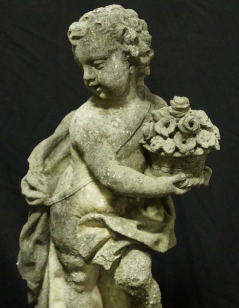 PAIR OF 19th CENTURY SHELL CRETE PUTTI SCULPTURES - 6